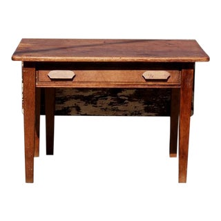 Antique Wooden Bakers Table For Sale