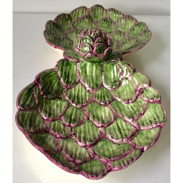 Neuwirth Artichoke Double Serving Dish-1980's For Sale - Image 4 of 10