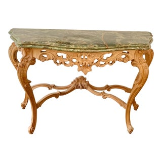 Rococo Style Scrollwork Console Table For Sale