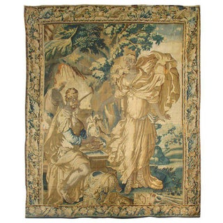 17th Century French Aubusson Tapestry - the Forging of the Arms of Achilles For Sale