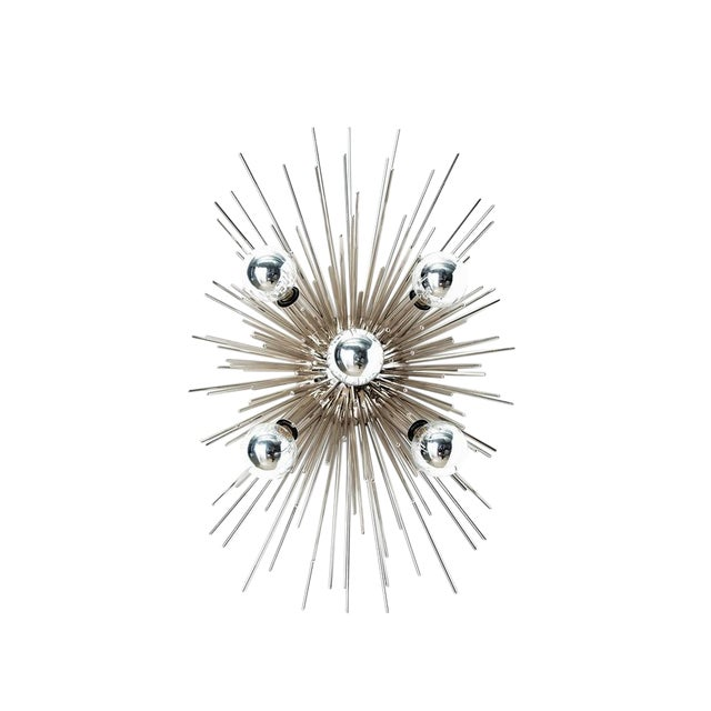 Arteriors Zanadoo Polished Nickel Sconce/ Ceiling Mount - Image 1 of 3