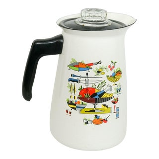 Georges Briard Enamelware Percolator Coffee Pot