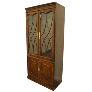 Thomasville Furniture Traditional Style Banded Mahogany Display Cabinet Preview