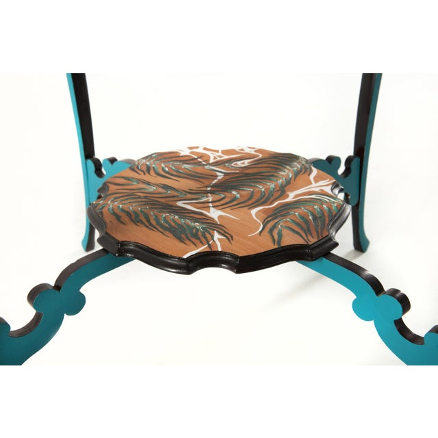 You Are a Vision, Hand-Painted Side Table by Atelier Miru For Sale - Image 4 of 5