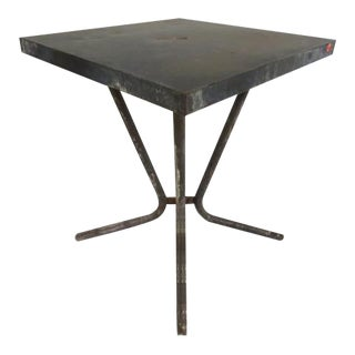 Vintage Industrial Zinc Bistro Table For Sale