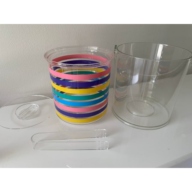 1980s Striped Ice Bucket For Sale In Miami - Image 6 of 11