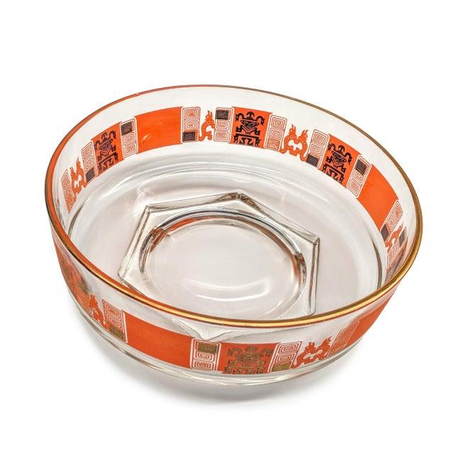 Orange & Gold Mid-Century Mayan Motif Candy Bowl - Image 5 of 5