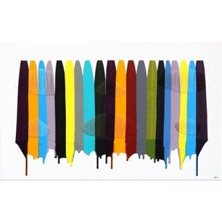"Colorful Original Artwork by Raul De La Torre ""Fils I Colors Cdliii"" For Sale"