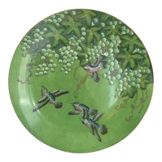 Vintage Bird Play Decorative Plate For Sale