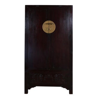 19th Century Chinese Shan Dong Black Elm Armoire