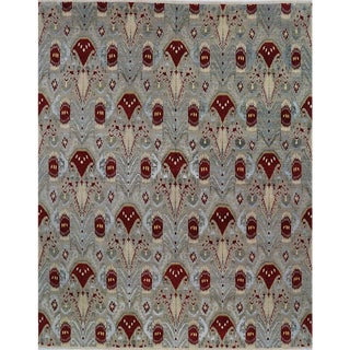 1990s Ikat Area Rug - 12′1″ × 15′1″ For Sale