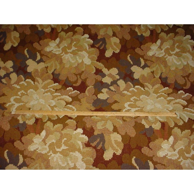 French Kravet Couture Red Tree Branch Floral Tapestry Upholstery Fabric- 12-7/8 Yards For Sale - Image 3 of 5