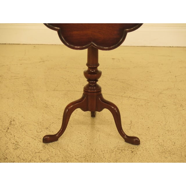 Queen Anne Kittinger Clove Top Mahogany Tilt Top Table For Sale - Image 3 of 10