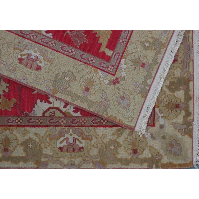 Soumak Design Hand Woven Wool Rug - 6' x 9' - Image 4 of 5