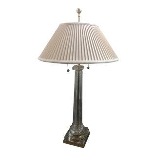 1970s Vintage Gumps Crystal Table Lamp