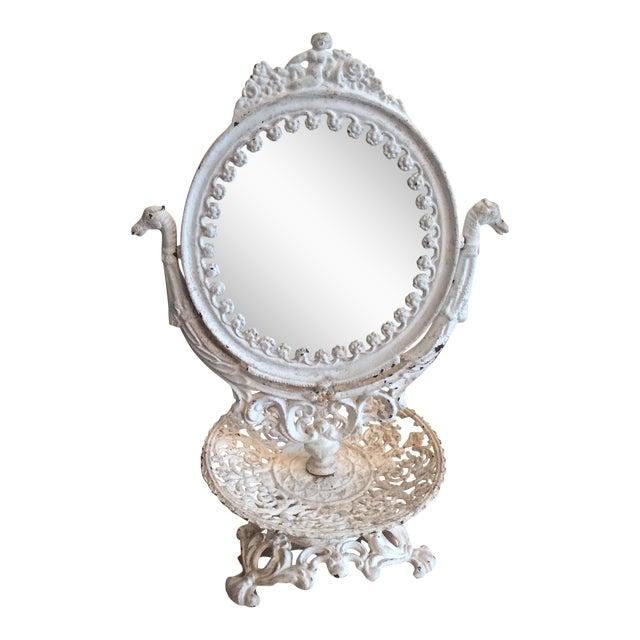 Vintage Iron Vanity Mirror For Sale