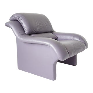 Post Modern Leather Lounge Chair For Sale