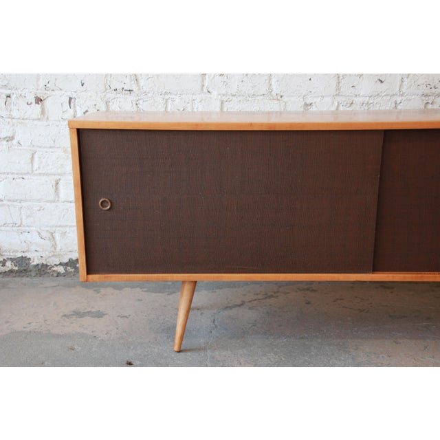 1950s Paul McCobb Planner Group Credenza or Record Cabinet For Sale - Image 5 of 12