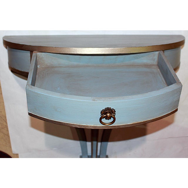 1930s Hanging Painted Wall Console For Sale - Image 5 of 10
