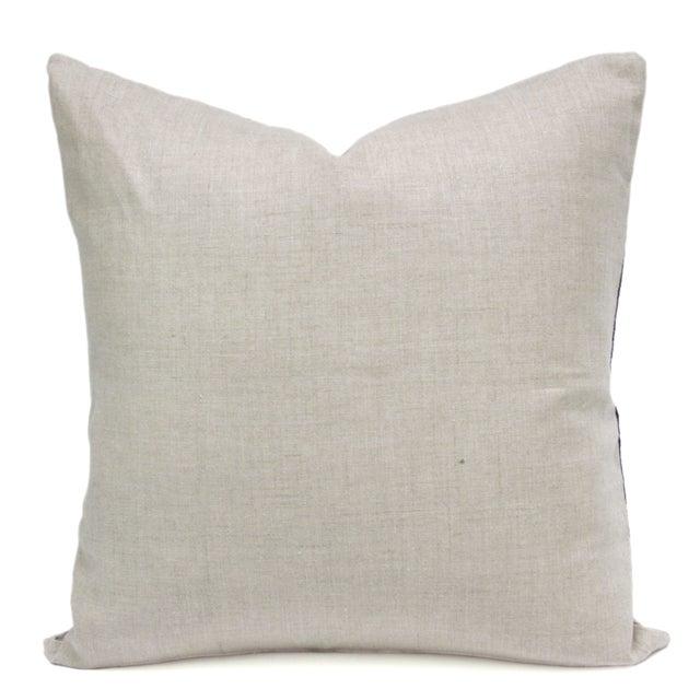 Breathtaking custom pillow made from a wonderful batik Hmong fabric. Pillow have a center strip of rich Indigo textile...