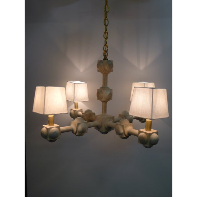 Modern Foursquare Chandelier by Paul Marra For Sale - Image 3 of 11