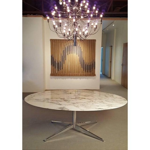 Incredible Florence Knoll Carrara Marble Dining Table DECASO - Mid century marble dining table