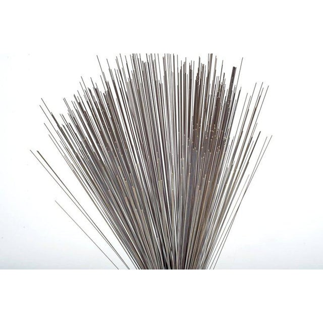 """Contemporary Harry Bertoia Early Stainless Steel """"spray"""" Sculpture, Usa, 1960s For Sale - Image 3 of 6"""