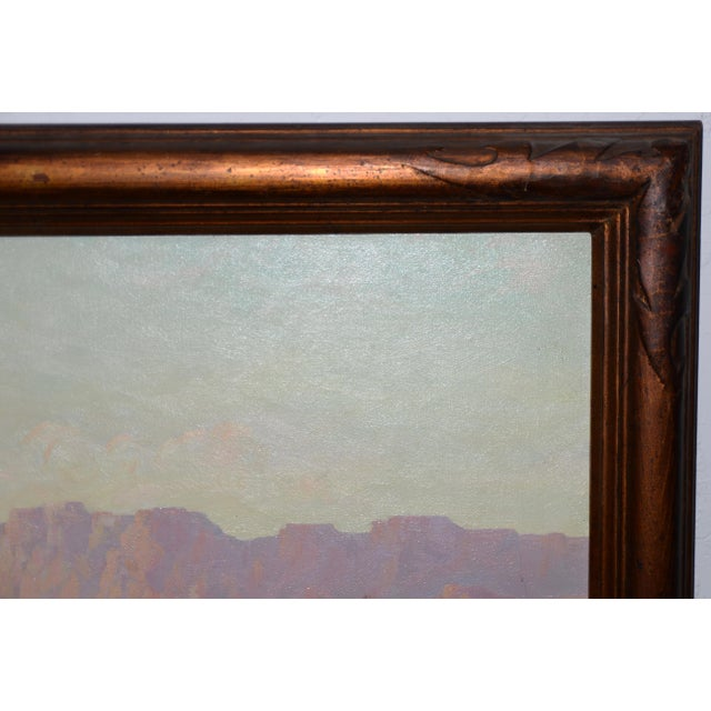 "1940s ""Red Mesa, Az"" Original Desert Landscape Painting C.1940s For Sale - Image 5 of 13"