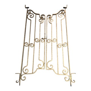 Spanish Mediterranean Style Interior Pedestrian Gates - Set of 2 For Sale