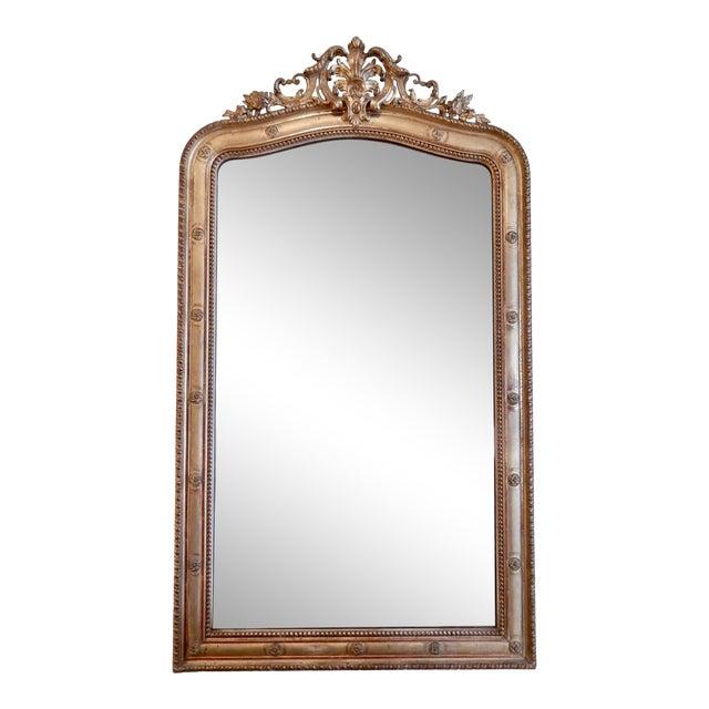 19th C Louis XVI Gilt Mirror For Sale