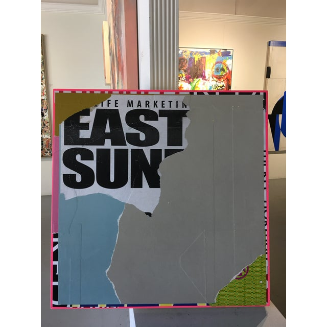 "Contemporary Mixed Media on Panel Collage ""EastSide"" by William Finlayson For Sale In West Palm - Image 6 of 7"