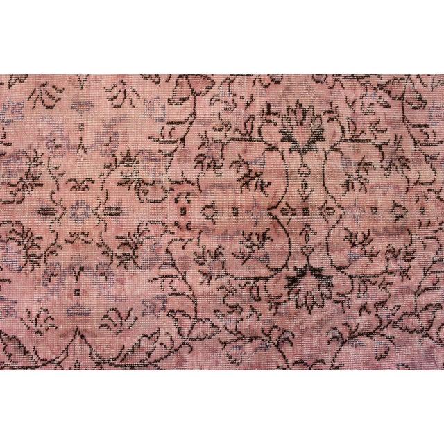 Pink Overdyed Oushak Rug - 6′2″ × 9′1″ - Image 6 of 7
