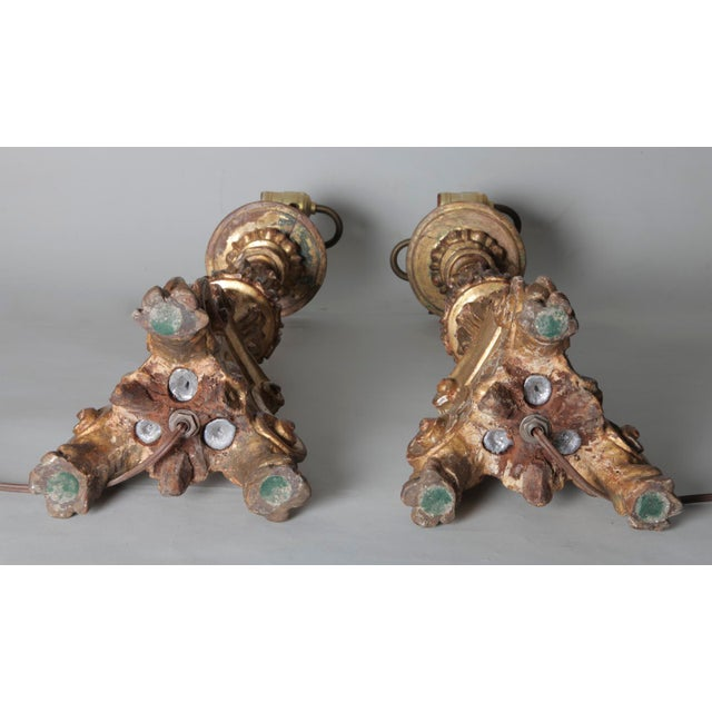 Antique Italian Baroque Style Lamps - a Pair For Sale - Image 9 of 10