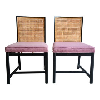 Mid 20th Century Vintage Michael Taylor for Baker New World Dining Chair- A Pair For Sale