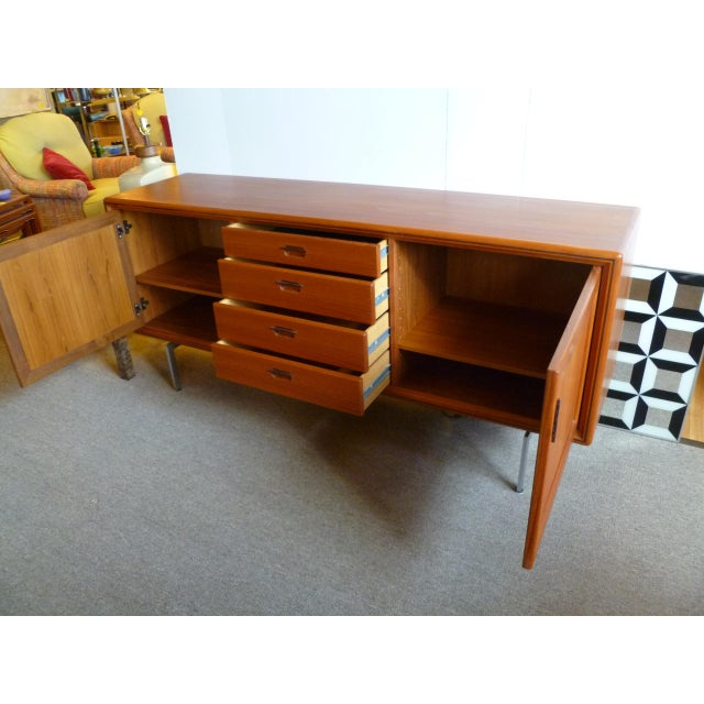 Teak and Wenge Wood Danish Modern Sideboard Buffet, DEnmark 1970s For Sale - Image 4 of 13