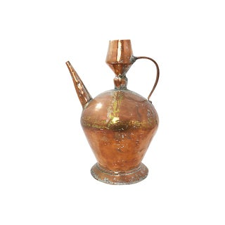 Handwrought Copper Pitcher For Sale