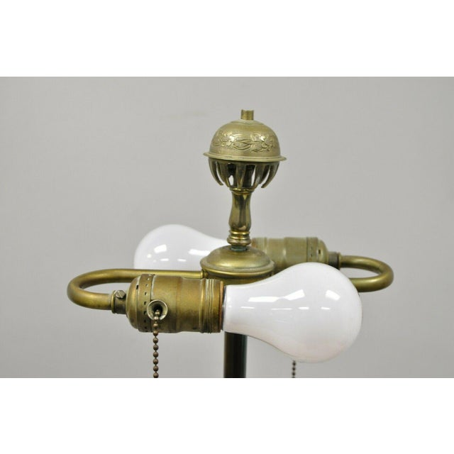 Vintage Brass Indian Moroccan Boho Chic Etched Brass Side Table Pole Floor Lamp For Sale - Image 9 of 13