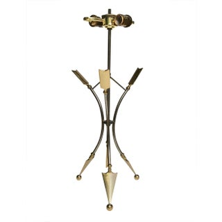 20th Century Antique Brass & Metal Arrow Lamp Preview