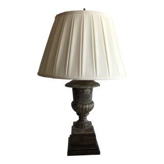 Early 20th Century Cast Iron Urn Lamp