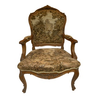 Vintage French Provincial Accent Chair For Sale