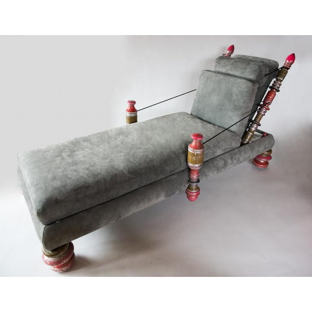 Phillip Lloyd Powell, Unique Custom Chaise Lounge, Usa, 1960s For Sale - Image 9 of 9