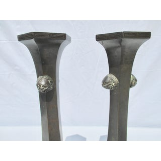 Japanese Bronze Candlesticks - a Pair Preview