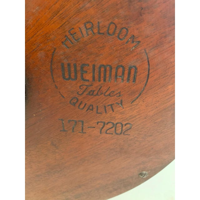 Antique 2 Tier Mahogany and Tooled Leather Side Table For Sale - Image 12 of 13