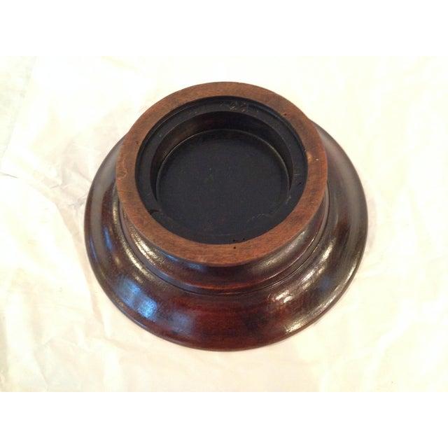 Antique Carved Wood Bowl - Image 4 of 6