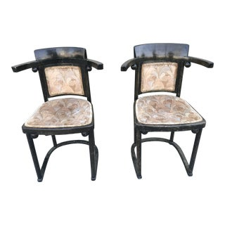 Josef Hoffman Fluedermaus Cafe Chairs - a Pair