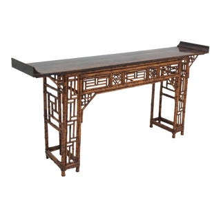 Vintage Chinese Bamboo Altar Table