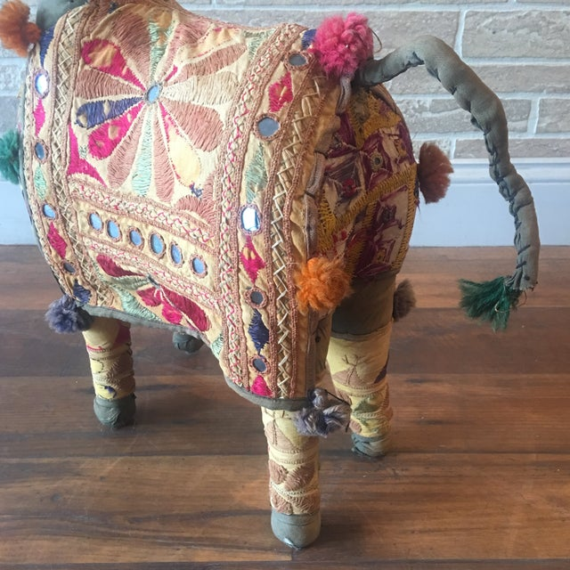 Vintage Rajasthan Hand Embroidered Indian Horse For Sale - Image 9 of 11