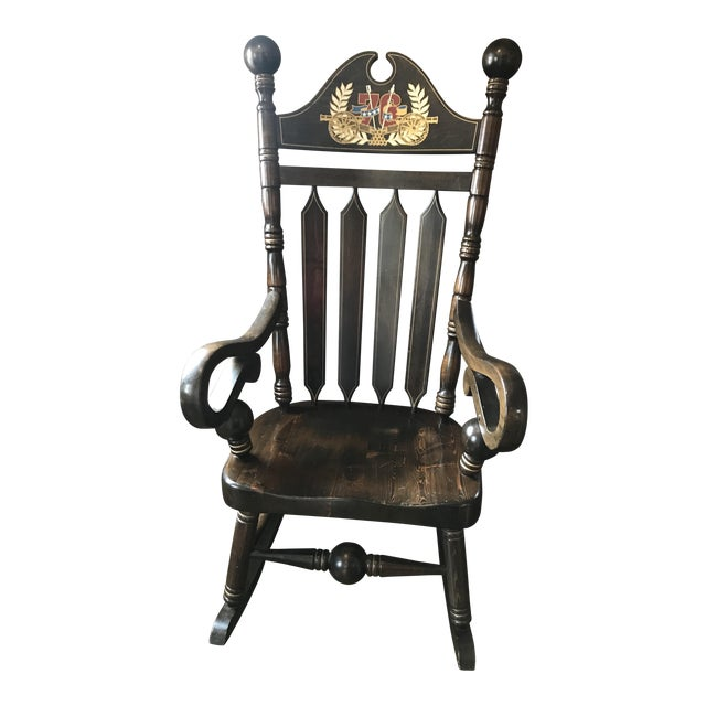 Marvelous Vintage Cannonball Rocking Chair Machost Co Dining Chair Design Ideas Machostcouk