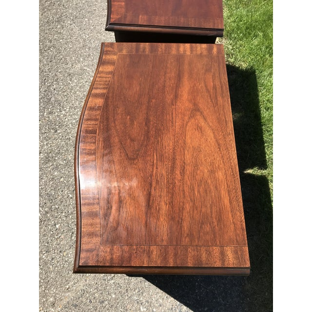 Chippendale Chippendale Walnut Nightstands by Drexel Heritage - a Pair For Sale - Image 3 of 5