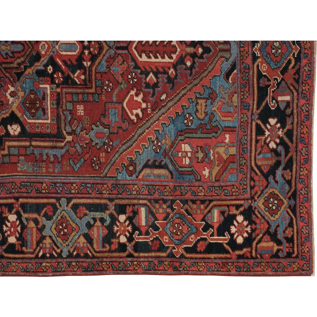 "Islamic Vintage Persian Heriz Rug - 6'8"" X 10'2"" For Sale - Image 3 of 4"